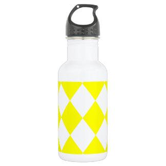 DIAMOND PATTERN in Bright Yellow ~ 532 Ml Water Bottle