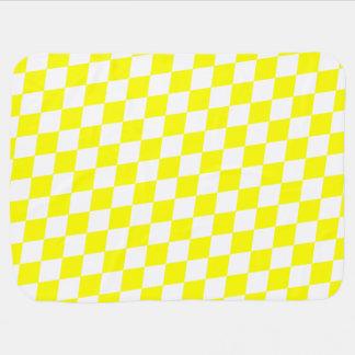 DIAMOND PATTERN in Bright Yellow ~ Buggy Blanket