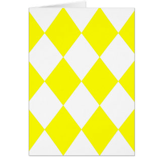 DIAMOND PATTERN in Bright Yellow Greeting Card