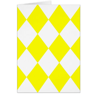 DIAMOND PATTERN in Bright Yellow ~ Greeting Card