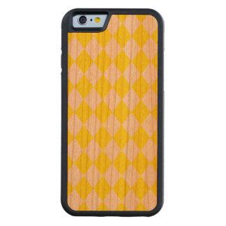 DIAMOND PATTERN in Bright Yellow Cherry iPhone 6 Bumper