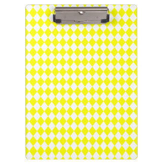 DIAMOND PATTERN in BRIGHT YELLOW ~ Clipboard