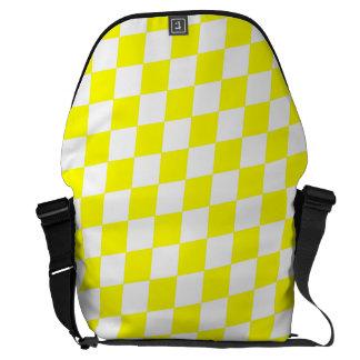 DIAMOND PATTERN in Bright Yellow Commuter Bag