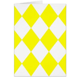 DIAMOND PATTERN in Bright Yellow Greeting Card