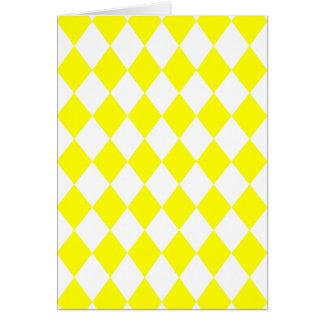 DIAMOND PATTERN in Bright Yellow ~ Greeting Card