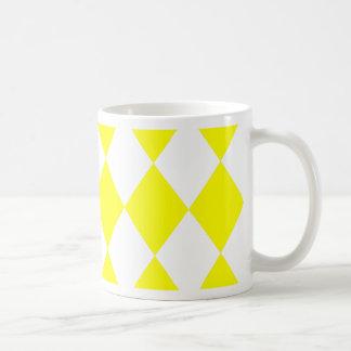 DIAMOND PATTERN in Bright Yellow ~ Mug