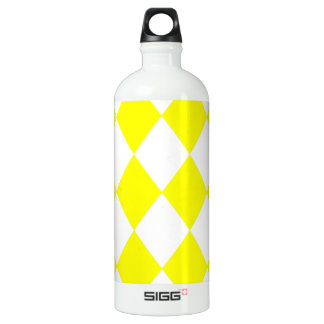 DIAMOND PATTERN in Bright Yellow SIGG Traveller 1.0L Water Bottle