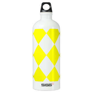 DIAMOND PATTERN in Bright Yellow ~ SIGG Traveller 1.0L Water Bottle
