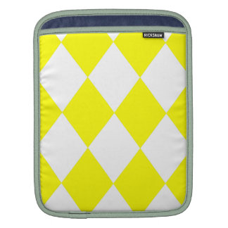DIAMOND PATTERN in Bright Yellow Sleeves For iPads
