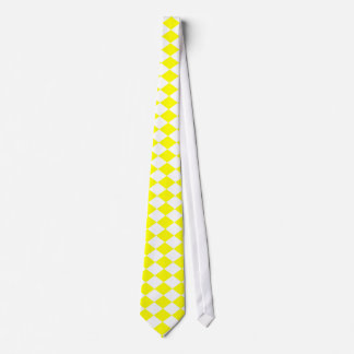 DIAMOND PATTERN in Bright Yellow ~ Tie