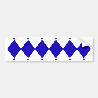 DIAMOND PATTERN in DEEP BLUE ~ Bumper Sticker