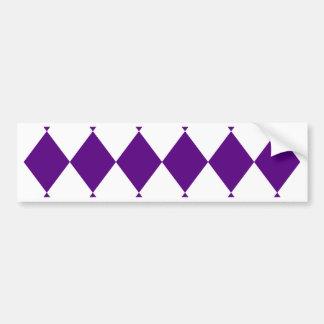 DIAMOND PATTERN in Deep Purple ~ Bumper Sticker