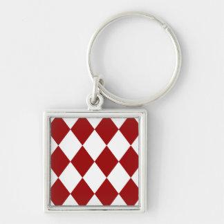 DIAMOND PATTERN in Deep Red ~ Key Chain