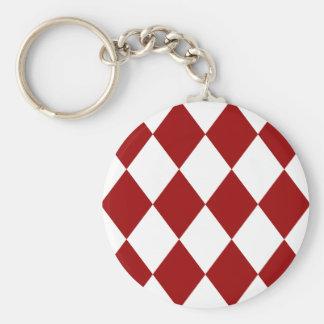 DIAMOND PATTERN in Deep Red ~ Keychain