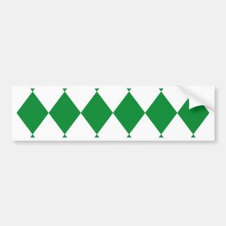 DIAMOND PATTERN in Green Bumper Sticker