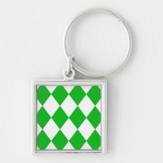 DIAMOND PATTERN in GREEN GREEN ~ Key Chains