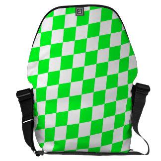 DIAMOND PATTERN in Light Green ~ Courier Bag