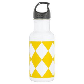 DIAMOND PATTERN in Yellow (banana yellow) ~ 532 Ml Water Bottle