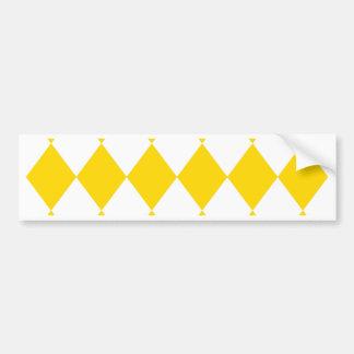 DIAMOND PATTERN in Yellow (banana yellow) ~ Bumper Sticker