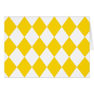 DIAMOND PATTERN in Yellow (banana yellow) ~ Greeting Card