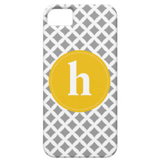 Diamond Pattern Monogram {pick your color} Barely There iPhone 5 Case