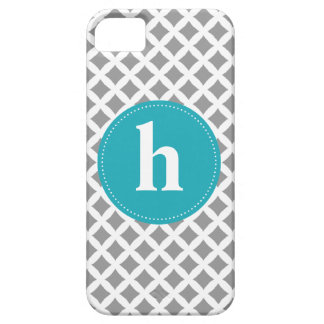 Diamond Pattern Monogram {pick your color} Case For The iPhone 5