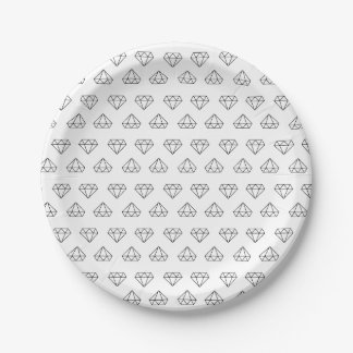 Diamond Pattern Paper Plates 7 Inch Paper Plate
