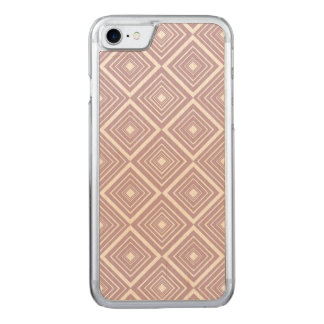 Diamond Pattern Purple and White Carved iPhone 8/7 Case