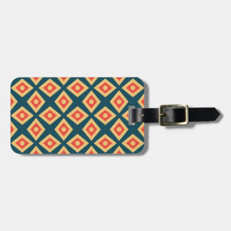 Diamond Pattern Red Luggage Tag