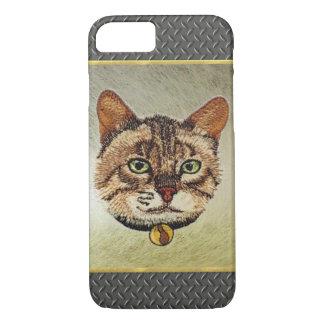 Diamond Pattern Tabby Cat iPhone 7 Case