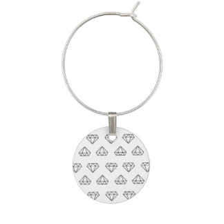 Diamond Pattern Wine Charm