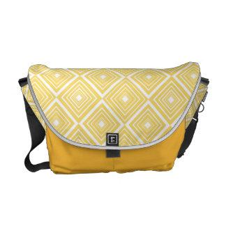 Diamond Pattern Yellow and White Commuter Bag