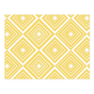 Diamond Pattern Yellow and White Postcard