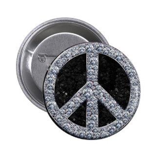 Diamond Peace Sign Pins