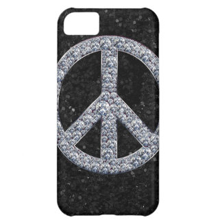 Diamond Peace Sign Cover For iPhone 5C