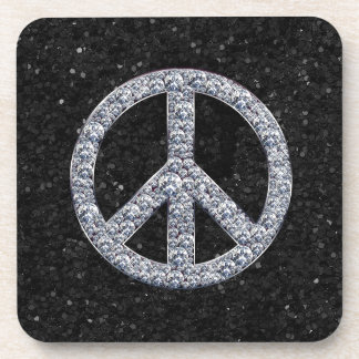 Diamond Peace Sign Coasters