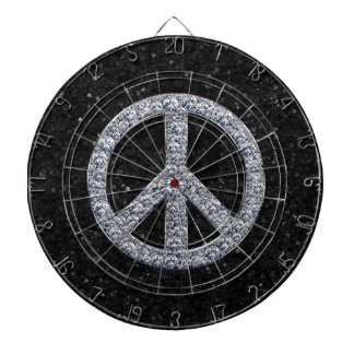 Diamond Peace Sign Dartboards