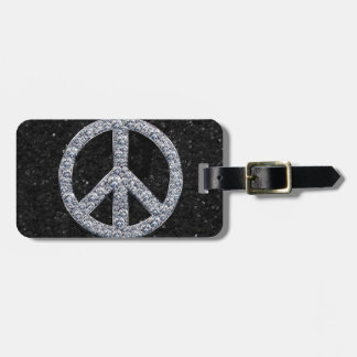 Diamond Peace Sign Tags For Luggage