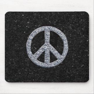 Diamond Peace Sign Mouse Pads