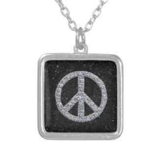 Diamond Peace Sign Necklace