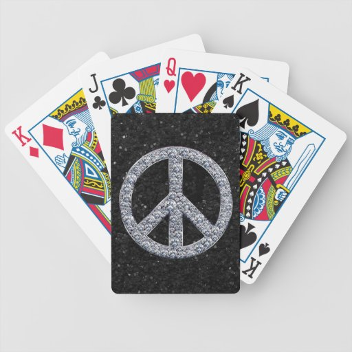 Diamond Peace Sign Bicycle Card Decks