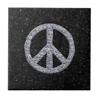 Diamond Peace Sign Ceramic Tiles