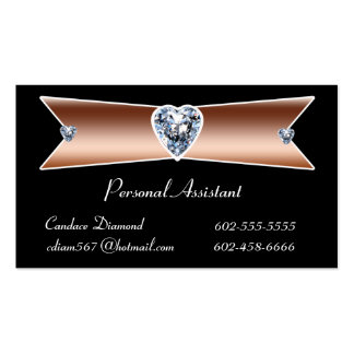 Diamond Personal Assistant Business Cards
