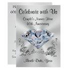 Diamond Personalised 60th Anniversary Invitations