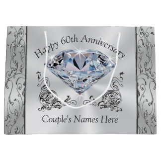 Diamond Personalized 60th Anniversary Gift Bags