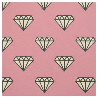 Diamond: pink, grey & cream fabric