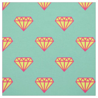Diamond: pink, teal & yellow fabric
