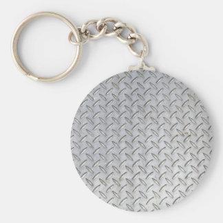 Diamond Plate Design Keychain