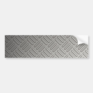 Diamond Plate Faux Pattern Bumper Sticker