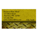 Diamond Plate Metal Gold Business Card Template